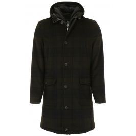 Cc collection corneliani parka lungo check Donna 52 Blu/Nero/Verde Lana