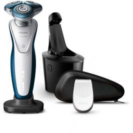 Philips Series 7000 Wet and Dry Rasoio Elettrico con Smart Clean Plus - S7521/26 - Bianco / Blu