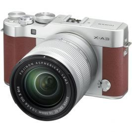 Fujifilm X-A3 Mirrorless Fotocamera Digitale con Obiettivo XC 16-50mm F3.5-5.6 OIS - Marrone (PAL)