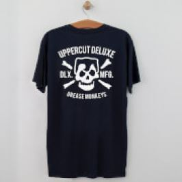 Uppercut Grease Monkey Lives T-Shirt - Navy/White Print - S - Navy/White