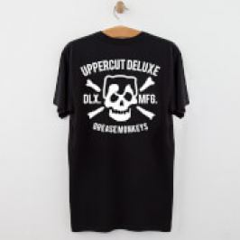 Uppercut Grease Monkey Lives T-Shirt - Black/White Print - S - Black/White