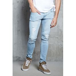 Distressed Faded Skinny Jeans