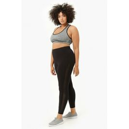 Plus Size Active Mesh Panel Leggings