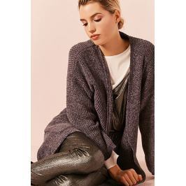 Chenille Belted Longline Cardigan