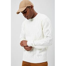 Fisherman Crew Neck Sweater
