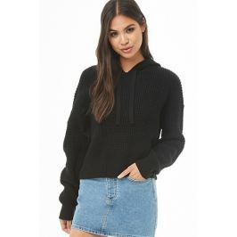 Drop-Shoulder Seed Knit Hoodie