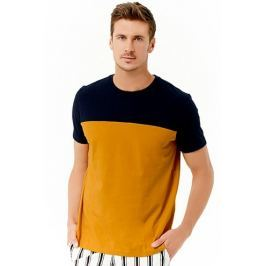 Colorblocked Cotton Tee