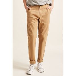 Slim-Fit Twill Pants Men's Trousers