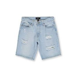 Clean Wash Distressed Jean Shorts