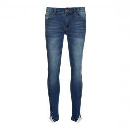 Jeans skinny a 7/8 con pizzo - 38
