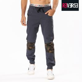 Jogger chino con toppe camouflage - M