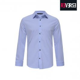 Camicia elegante con bottoni decorativi - XL