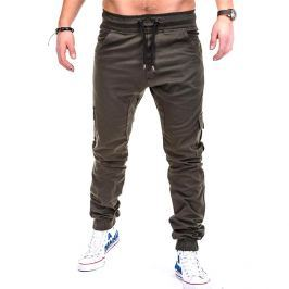Chino in stile jogger - 4XL - Verde